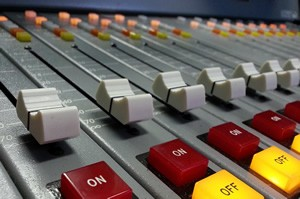professional voiceover talent radio broadcasting console
