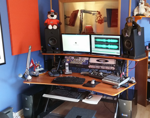 This is a picture of my voiceover recording studio and sound proof booth